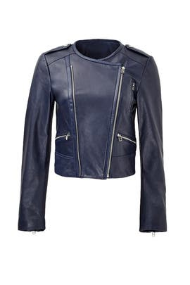 Indigo Leather Jacket by Rebecca Minkoff