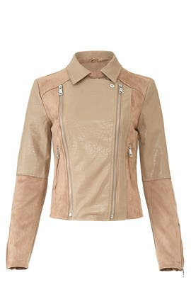 Taupe Faux Suede Jacket by VIGOSS