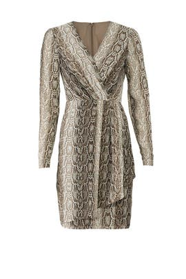 Python Faux Wrap Dress by Slate & Willow