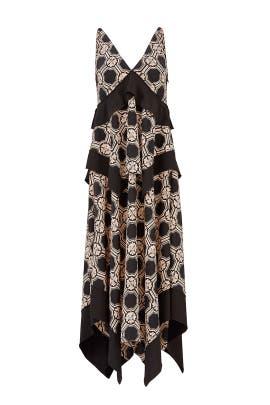 New hutch black one shoulder maxi dress