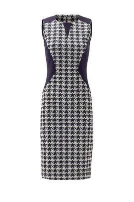 Navy Check Bryant Dress by Of Mercer