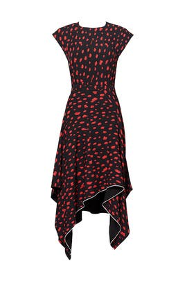 Red Leopard Georgette Dress by Proenza Schouler