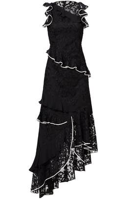 Black Lace Contrast Dress by Sachin & Babi