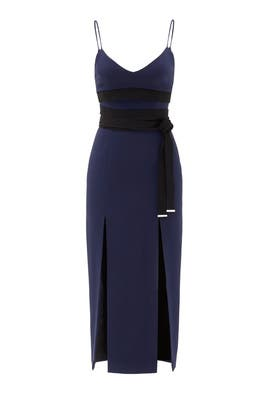 Midnight Wraparound Dress by David Koma