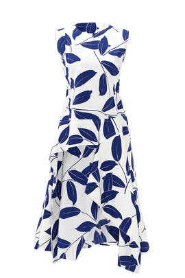 Blue Olive Branch Dress by Marni
