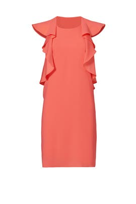Pink Side Ruffle Dress by MSGM for $65 - $95 - Rent the Runway