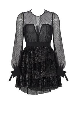 Mesh Sequin Dress by Christian Pellizzari
