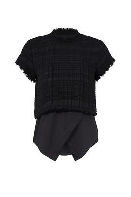 Black Asymmetrical Layered Top by Derek Lam 10 Crosby