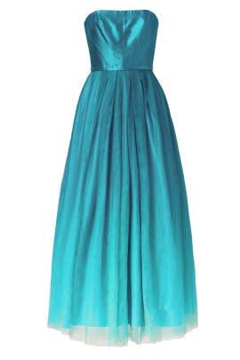 Ombre Teal Dress by ML Monique Lhuillier