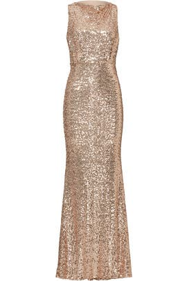 Blush Sequin Blouson Gown by Badgley Mischka