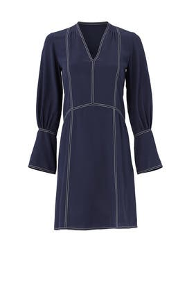 Navy Silk Shift by DEREK LAM