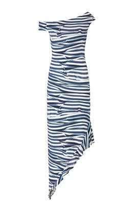 Heatwave Stripe Dress by Nicole Miller