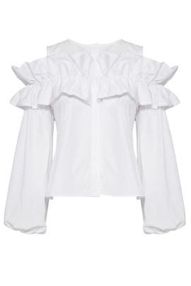 Ruffle Button Down by Viva Aviva