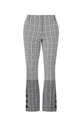 Plaid Crop Flare Trousers by Derek Lam 10 Crosby