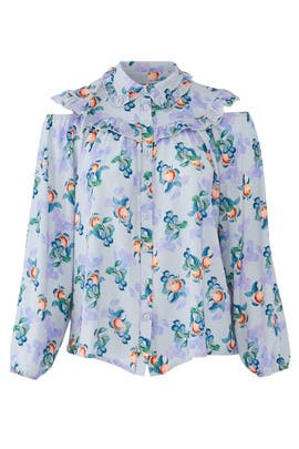 Peach Print Blouse by LOST INK