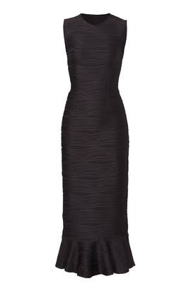 Black Lotus Flutter Dress by Opening Ceremony
