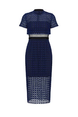 Navy Geo Floral Dress by Slate & Willow