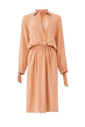 Rust Pink Shirtdress by VINCE.