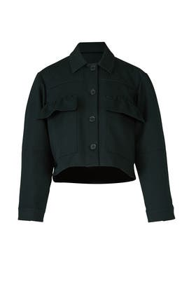 Forest Green Cargo Jacket by Carven
