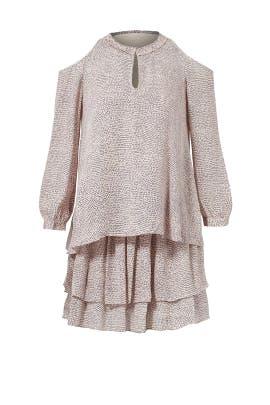 Blush Printed Cold Shoulder Dress by Derek Lam 10 Crosby