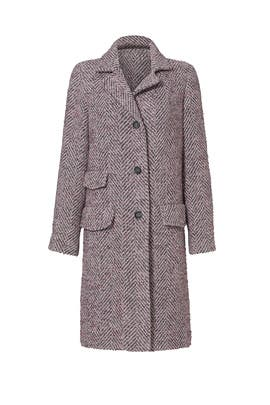 Faded Rose Chevron Coat by Rebecca Taylor