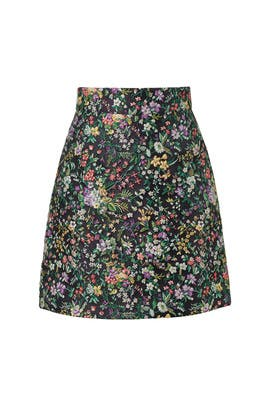 Floral Jacquard Skirt by Tibi
