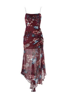 Burgundy Floral Dress by Nicholas