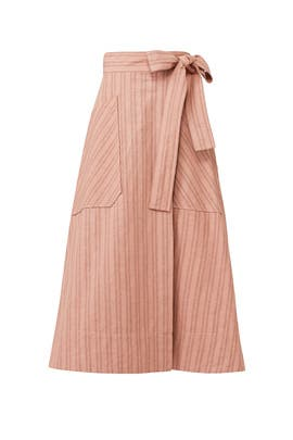 Stripe Wrap Skirt by Rebecca Taylor