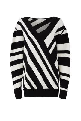 Oversize Stripe Sweater by Jason Wu Grey