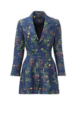 Edison Jacquard Suit Romper by Marissa Webb