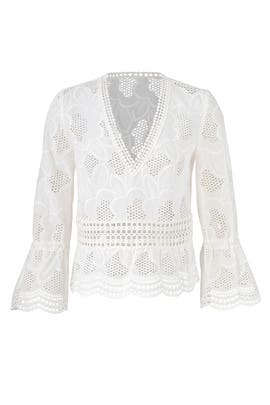 White Pollen Lace Top by Nicholas