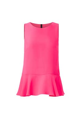 Ruffled Hot Pink Top by Sail to Sable