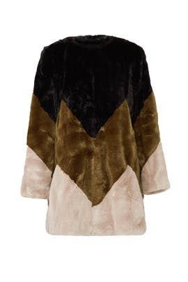 Lola Faux Fur Coat by Twinset