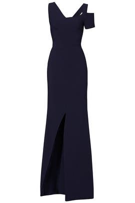 Navy Cold Shoulder Gown by Antonio Berardi