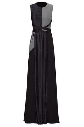 Print Patchwork Harness Gown by ADEAM