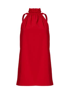 Red Out of Line Dress by C/MEO COLLECTIVE