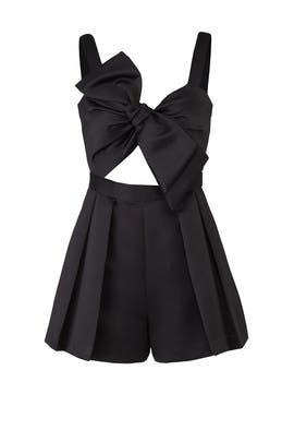 Black Fernie Romper by Jay Godfrey
