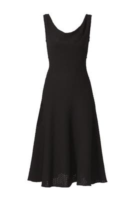 Black Crochet Jersey Dress by DEREK LAM