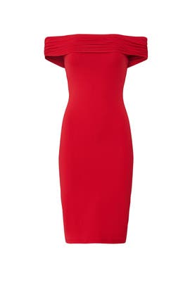 Red Sophy Dress by Susana Monaco