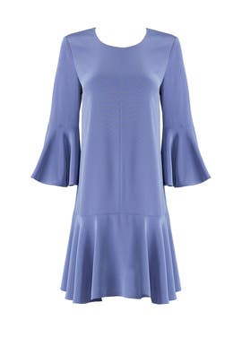Blue Trapeze Dress by Slate & Willow