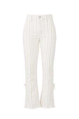 Cream Stripe Drew Jeans by Citizens Of Humanity