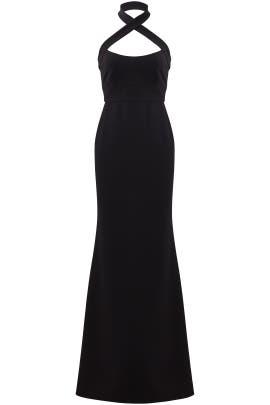 Black Halter Gown by Jill Jill Stuart