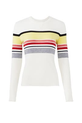 Stripe Knit Sweater by Jason Wu Grey
