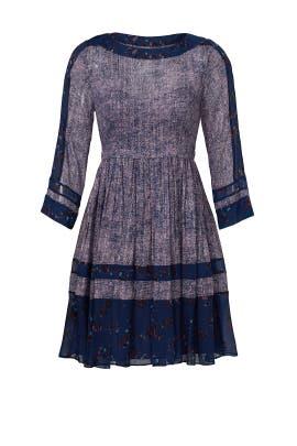 Floral Border Purple Fields Dress by Rebecca Taylor