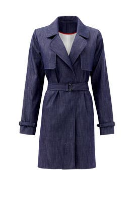 Denim Deana Trench Coat by Waverly Grey