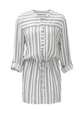 Navy Stripe Shirtdress by Matison Stone