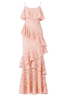 Hushed Dove Lace Gown by Cooper Street