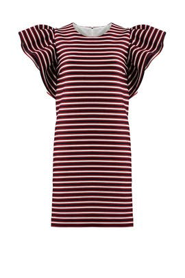 Multi Stripe Ruffle Shift by MSGM