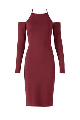 Burgundy Lulu Dress by Trina Turk