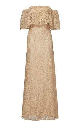 Gold Lace Catherine Gown by ERIN erin fetherston